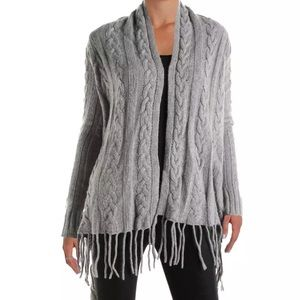 The Lane Wool/Cashmere Blend Cable Knit Cardigan
